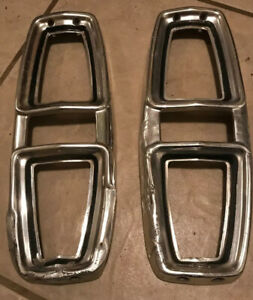 1967 Ford Ranchero Tail Light Bezels Used