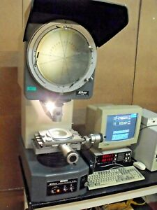 Nikon V 12 Optical Comparator Profile Projector Metrology Inspection Tool Qc Lab