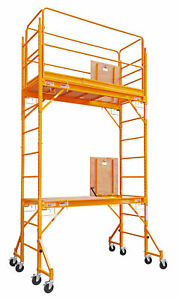 12 Foot Multi Purpose Rolling Scaffolding With Hatch 1000 lb Capacity