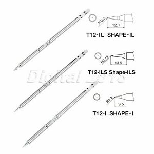 3pcs T12 ils I Il Soldering Iron Tips For Hakko Soldering Rework Station 150mm