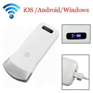 Portable Mini Wifi Wireless Ultrasound Scanner Convex Array Probe 3 5mhz Doppler
