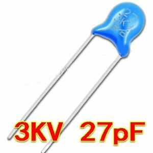 New 3kv 27j 3000v 27pf High Voltage Ceramic Capacitor