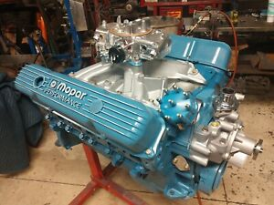 Mopar 440 Engine Assembly Hp Hyd Cam Iron Head Street Strip 500hp Ready 2 Run