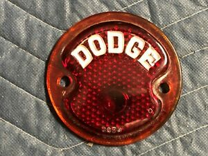 Dodge Lettered Red Glass Taillight Stop Lens Vintage Old Auto Truck Hot Rod Doto