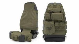 Two 2 Smittybilt 5661031 Seat Cover Gear Seat Cover Od Green Front