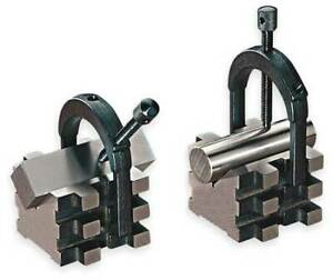Starrett 568c V blocks matched Pair W clamps 2 In