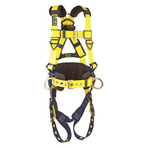 3m Dbi sala 1101656 Full Body Harness Vest Style Xl Polyester Yellow