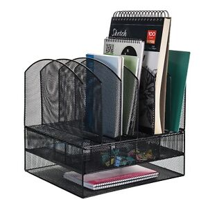Mesh File Paper Tray Organizer Desktop Collection Office Document Holder Drawer