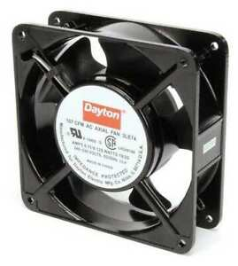 Dayton 3le74 Axial Fan Square 230vac 1 Phase 107 Cfm 4 11 16 W
