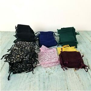 Lot Jewelry Bags 122 Drawstring Pouch Wedding Party Favor Supply Velvet Organza
