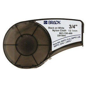 Brady M21 750 499 Label Tape Cartridge Black white Labels roll Continuous
