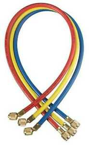 Yellow Jacket 21984 Manifold Hose Set 48 In red yellow blue