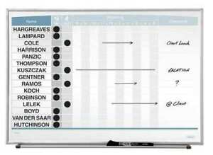 Quartet 33704 16 x23 Magnetic Porcelain In out Dry Erase Board Silver Frame