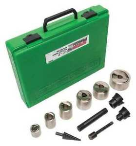 Greenlee 7907sbsp 12 Piece Hydraulic Punch Driver Set W out Driver 10 Ga Steel