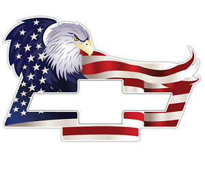 American Eagle Chevrolet Chevy Bowtie Us Flag Car Truck Vinyl Sticker Decal Suv