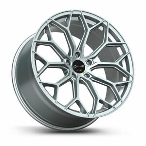 22 Gianelle Monte Carlo Silver 22x10 5 Wheels Rims Fits Land Rover Range Rover