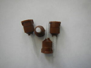 100 Pcs Dental Brown Temporary Cement Mixing Tips 1 1
