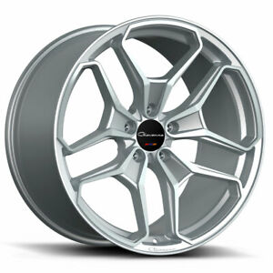 22 Giovanna Huraneo Silver 22x9 22x10 5 Concave Wheels Rims Fits Dodge Charger