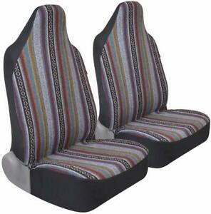 Saddle Blanket Car Seat Covers 2pc Front High Back Bucket Protection For Vehic