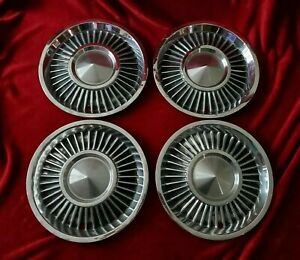 Rare 1958 Lincoln Continental 14 Hubcaps 1959 Wheel Covers Mark Iii 1957