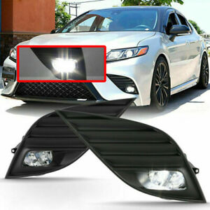 Led Bumper Fog Lights Lamps W Switch For 2018 2019 Toyota Camry Hybrid Se Xse