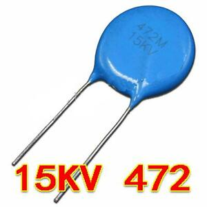 New 15kv 472 15000v 0 0047 f 4 7nf 4700pf High Voltage Ceramic Capacitor