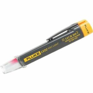 Fluke Lvd2 Volt Light Non Contact Voltage Detector 90 To 600 V Ac With Counter