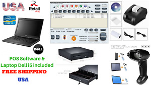 Low Price Full Pos All in one Point Of Sale System Combo Kit Retail Store I5