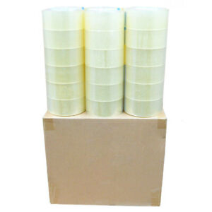 36 Rolls Carton Sealing Clear Packing Shipping Tape 2 Mil 2 X 110 Yards
