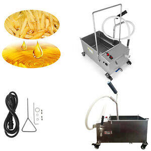 Used 40l Oil Filter Oil Filtration System Filtering Machine Drain Type Fryers