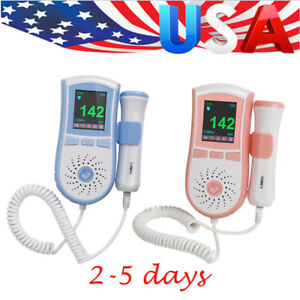 Fetal Doppler Hand held Fetal Heart Color Lcd Display Baby Heart Monitor 3mhz