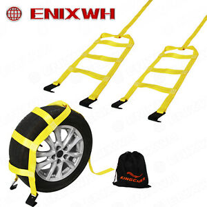 Tow Dolly Basket Straps With Flat Hooks Fits 14 17 Tires Wheels