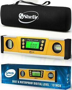 Digital Magnetic Level Tool 10 Inch Torpedo Smart Level And Protractor