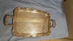Wm Rogers Silverplate Serving Tray Vintage Very Nice Take A Look