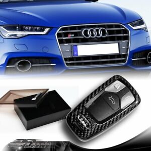 For Audi A4 A5 S4 S5 Q5 Q7 Tt Real Carbon Fiber Remote Key Shell Cover Case