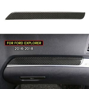Carbon Fiber Dashboard Center Console Cover Trim For Ford Explorer 2013 2018