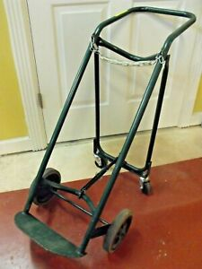 Harper Compressed Gas Cylinder Cart Dolly Tilt Back Truck Welding Lab Equipment