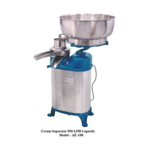 Electric Stainless Steel Cream Separator Capacity 550 Lph