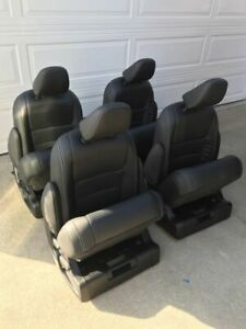 Set Of 4 Leather Seats For Mercedes Sprinter Van Rv Or Shuttle Bus Motorhome