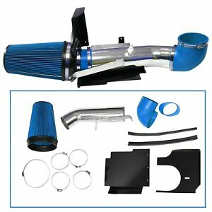Fit 99 06 Silverado 1500 2500 3500 4 Cold Air Intake Induction Kit Filter Blue