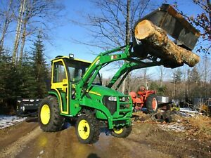 John Deere 3420 4x4 Cab Loader Snowblower 4 In 1 Bucket
