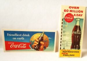 Original Two 1956-60 DRINK COCA-COLA INK BLOTTER's   Never Used!