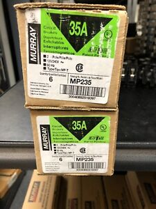 Mp235 35 amp 2 Pole Type Mp t Circuit Breaker New In Box Lot Of 10