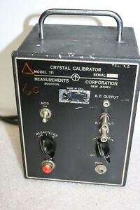 Vintage Rare 1940 s Or Early 50 s Measurements Crystal Calibrator Model 111