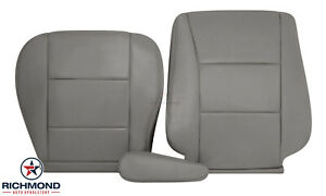 For 2003 2004 Toyota Land Cruiser Driver Side Complete Leather Seat Covers Gray