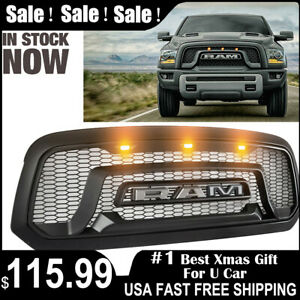 Front Grille Grill For Dodge Ram 1500 2013 2018 Mesh Style Abs Honeycomb Bumper