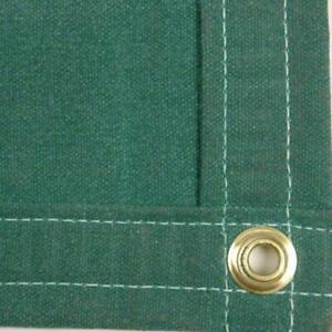 Sigman 6 X 10 Heavy Duty Cotton Canvas Tarp 18 Oz Green Made In Usa New