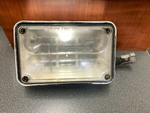 Whelen 400 Series Red Led Light With Clear Non Optic Lens And Chrome Bezel
