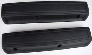 Mopar 1966 1970 Long 13 Arm Rest Pads Black Pair Charger Chrysler 300 Fury