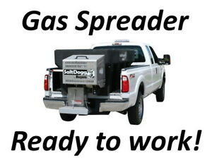 Saltdogg 2 Cubic Yard Gas Poly Hopper Spreader 10 5 Hp Chain Drive Up To 50 50